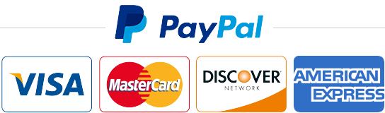 Credit or debit card through PayPal